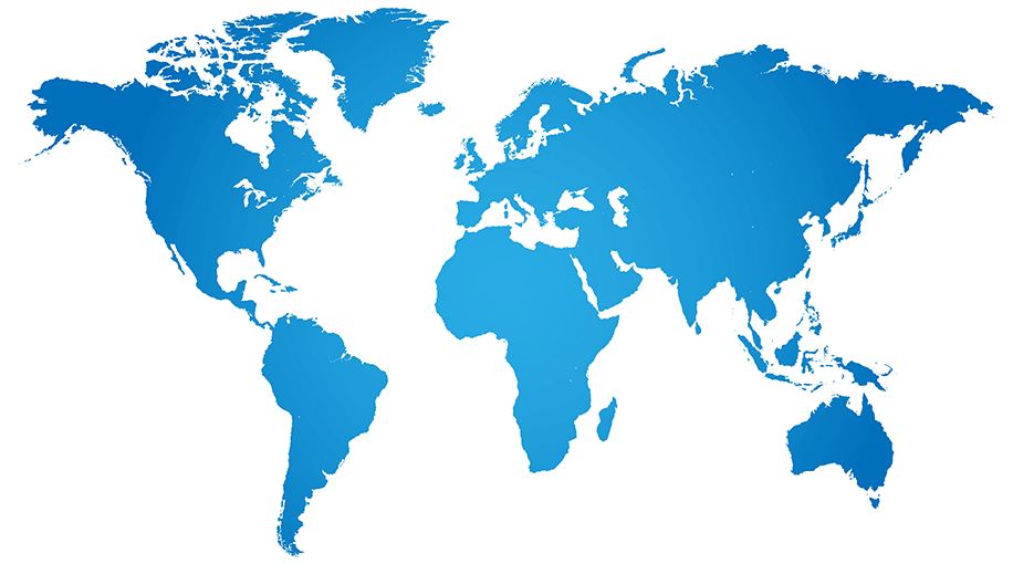 Where we deliver - world map