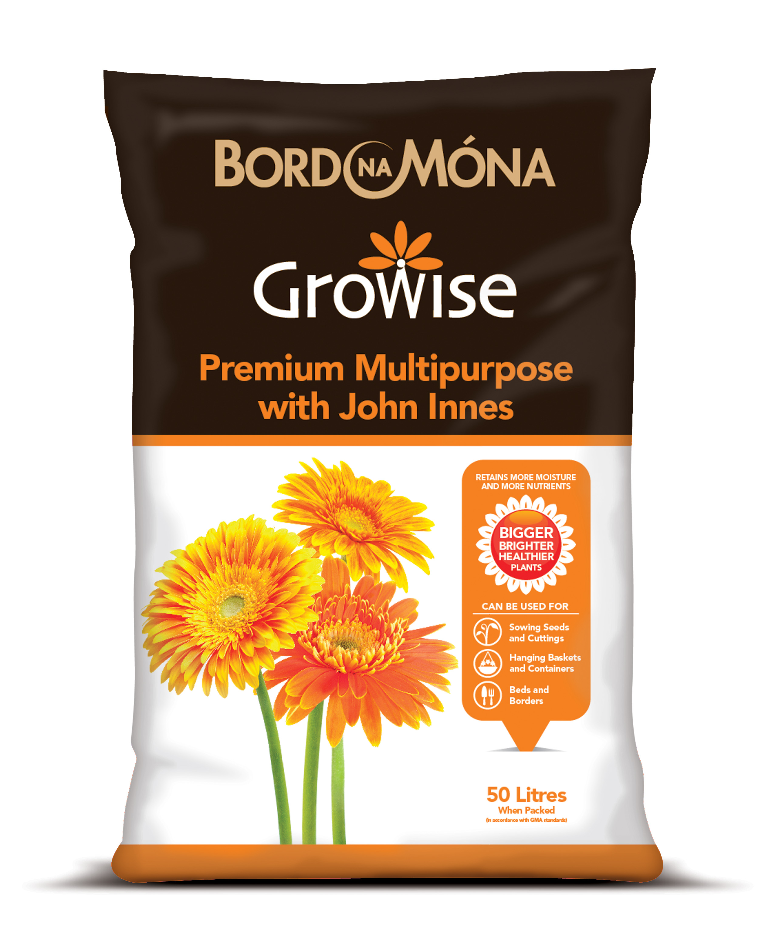 Image for westland multi purpose compost with john innes 50l from - Bord Na Mna Growise Premium Compost With John Innes
