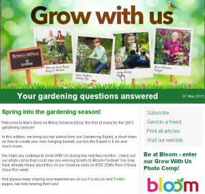 Grow With Us Newsletters